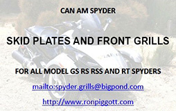 Skid plates and front grills